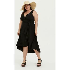 Torrid Black Knit Tie Front Hi-Lo Dress